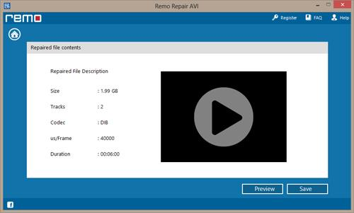 Uncompressed AVI Repair - Select RAR File